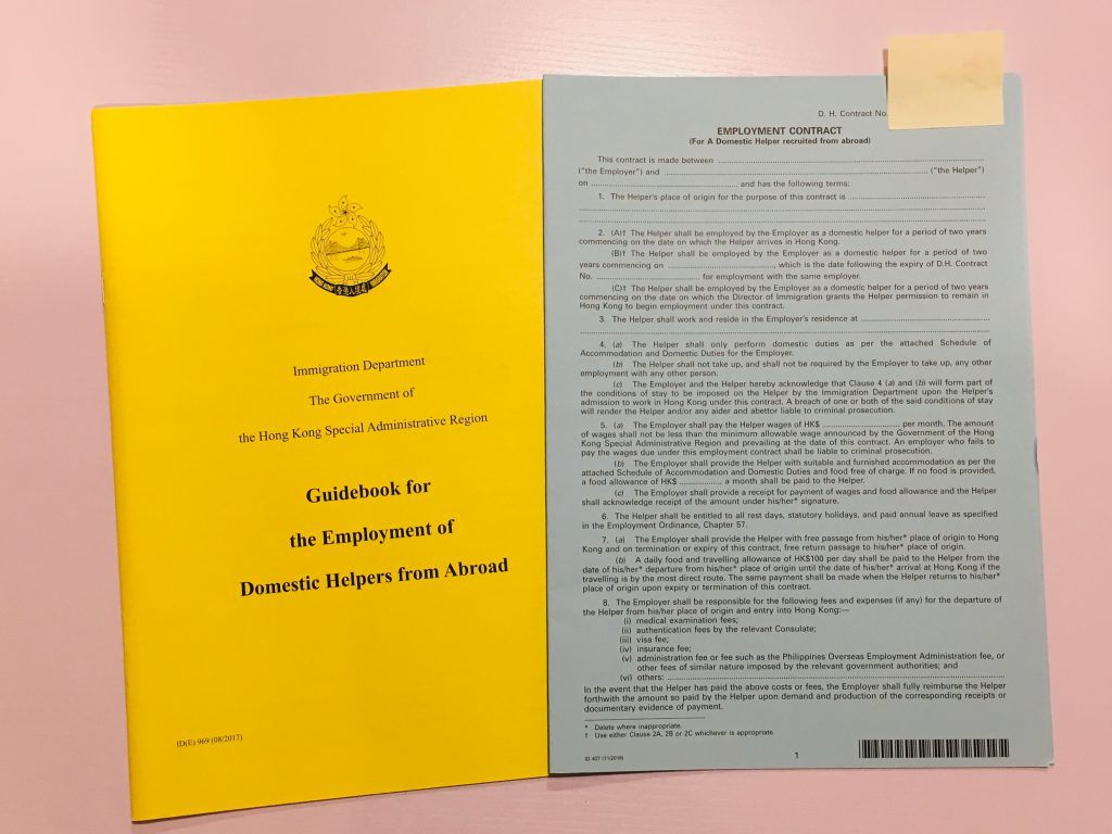 Domestic Helper Contract and Main Regulations in Hong Kong